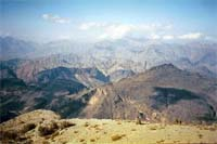 Hajar Mountains in Oman