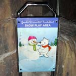 Snow Play Area Sign at Ski Dubai